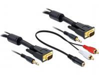 Anschlusskabel S-VGA St. + 3, 5mm Klinke St. an S-VGA St. + 3, 5mm Klinke St., 3m Delock® [84453]