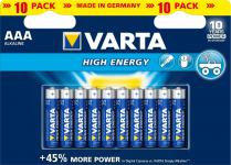 Varta® Batterie, High Energy (Alkaline), LR03 (AAA), 1, 5V, 10er Pack in Blister