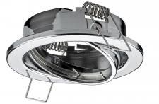 Einbaustrahler für MR16-Reflektor-Lampen, schwenkbar, chrom