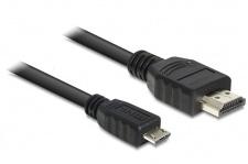 Anschlusskabel MHL Stecker an High Speed HDMI Stecker, schwarz, 3m, Delock® [83296]