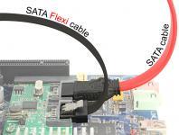 Kabel SATA FLEXI 6 Gb/s 70 cm schwarz Metall, Delock® [83842]