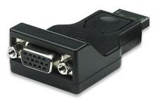 kabelmeister® Adapter Displayport Stecker an VGA Buchse