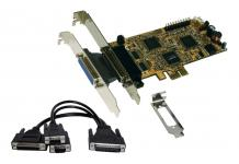 Schnittstellenkarte, 2S / 2P PCI-Express Multi I/O-Karte, Oktopuskabel, Exsys® [EX-44344]