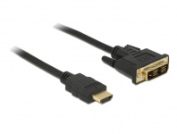 DVI Kabel - DVI-D 18+1 Stecker an HDMI A Stecker 5m, Delock® [84672]