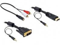 DVI 18+1-> HDMI Anschlusskabel mit Audio, 2m, Delock® [84455]