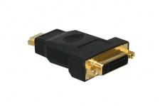 kabelmeister® Adapter DVI 24+1 Buchse an HDMI 19pol Stecker, vergoldet