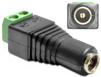 Adapter DC 2, 5 x 5, 5 mm Buchse an Terminalblock 2 Pin, Delock® [65485]