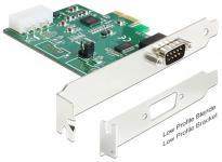 PCI Express Karte > 1 x Seriell RS-232 High Speed 921K mit Spannungsversorgung Delock® [89333]