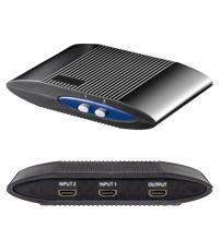 Manuelle HDMI Umschaltbox für 2 Geräte, 2IN/1OUT, schwarz
