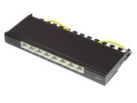 Patch Panel Desktop Cat. 6A, geschirmt, STP, 0, 5 HE, 8-Port, tiefschwarz RAL9005, Good Connections®