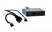 kabelmeister® 3.5' Frontpanel mit USB 3.0 und integriertem Card-Reader
