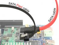 Kabel SATA FLEXI 6 Gb/s 30 cm schwarz Metall, Delock® [83840]