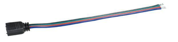 Anschlusskabel mit 4pol. Hohlstecker für RGB-Leisten, 0, 15m
