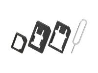 SIM-Kartenadapter (3in1), nano-SIM, Micro-SIM, SIM-Format