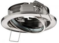 Einbaustrahler für MR16-Reflektor-Lampen, schwenkbar, chrom matt