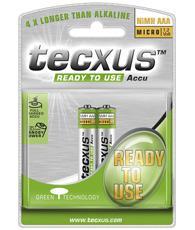 Tecxus® READY-TO-USE Akku Ni-MH Micro, AAA, 1, 2 V, 800 mAh, 2er Blister