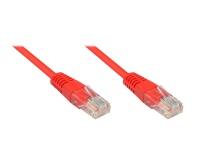 Patchkabel, Cat. 5e, U/UTP, rot, 0, 25m, Good Connections®