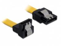 Kabel, SATA 6Gb/s, abgewinkelt, unten/gerade, Metall, 0, 1m, Delock® [82798]