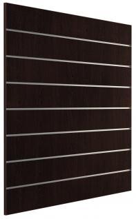 Ladeneinrichtung Lamellenwand Deko Wand Accessoire Aufhänger 1200 x 1200 mm Dekor Wenge