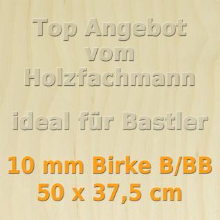 Sperrholz 10mm Birke Sperrholzplatte Modellbau Holzplatte Bastelholz 50 x 37, 5 cm