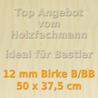 Sperrholz 12mm Birke Sperrholzplatte Modellbau Holzplatte Bastelholz 50 x 37, 5 cm