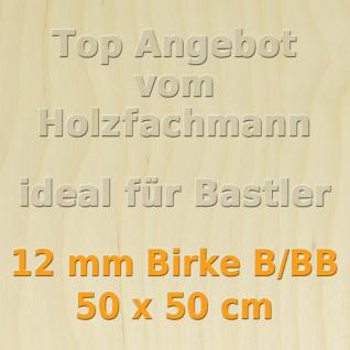 Sperrholz 12mm Birke Sperrholzplatte Modellbau Holzplatte Bastelholz 50 x 50 cm