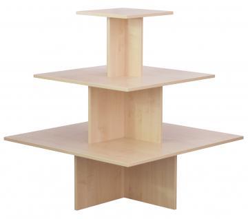 Regalpyramide 110 cm Ahorn Mittelraumpräsenter Warenträger Ladeneinrichtung Textil