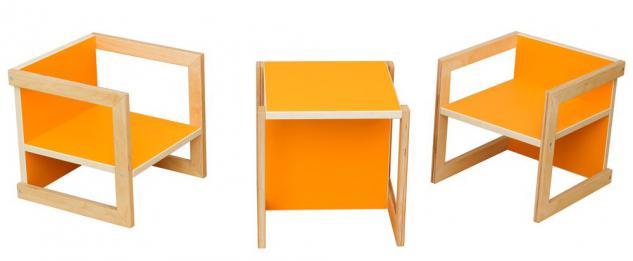 kinderstuhl kinderm bel stuhl tisch michel birke orange in 3 sitzh hen kaufen bei pihami. Black Bedroom Furniture Sets. Home Design Ideas