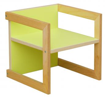 Kindersitzgruppe Kindermöbel Stuhl Michel 3-teilig Birke/Grün in 3 Sitzhöhen - Vorschau 2