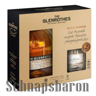 The Glenrothes Select Reserve Speyside Single Malt Scotch Whisky 43% 0, 7l im Geschenkset mit 2 Tumblern