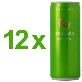 28 Black Sour Apple Energy Drink 12 x 250 ml