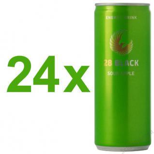 28 Black Sour Apple Energy Drink 24 x 250 ml
