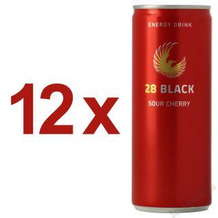 28 Black Sour Cherry Energy Drink 12 x 250 ml