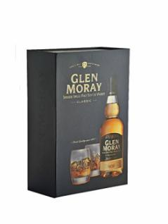 Glen Moray Classic Single Malt Whisky mit 2 Tumblern 0, 7 Liter