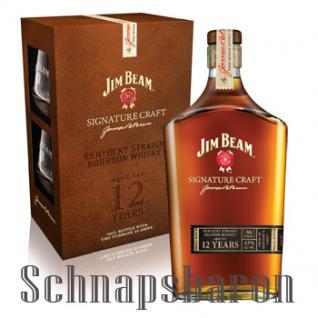 Jim Beam Signature Craft Bourbon Whiskey 0, 7l & 2 Tumbler