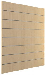 Ladeneinrichtung Lamellenwand Deko Wand Accessoire Aufhänger 1200 x 1200 mm Dekor Ahorn - Vorschau