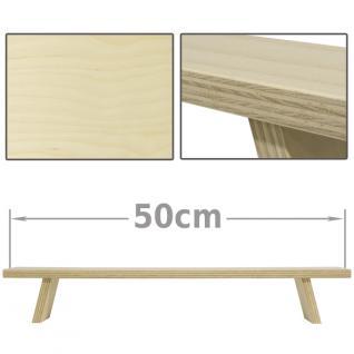 Schwibbogen Erhöhung Lichterbogen Fensterbank Schwibbogenbank 50 cm - Vorschau 1