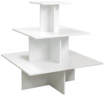 Regalpyramide 110 cm Weiß Mittelraumpräsenter Warenträger Ladeneinrichtung Textil