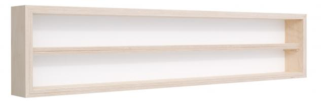 Pihami Sammler - Vitrine 2HE Spur H0 & N Märklin Regal 140 cm Birke natur