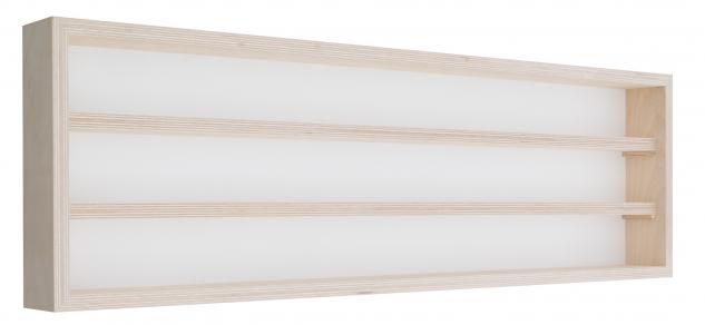 Pihami Sammler - Vitrine 3HE Spur H0 & N Märklin Regal 130 cm Birke natur