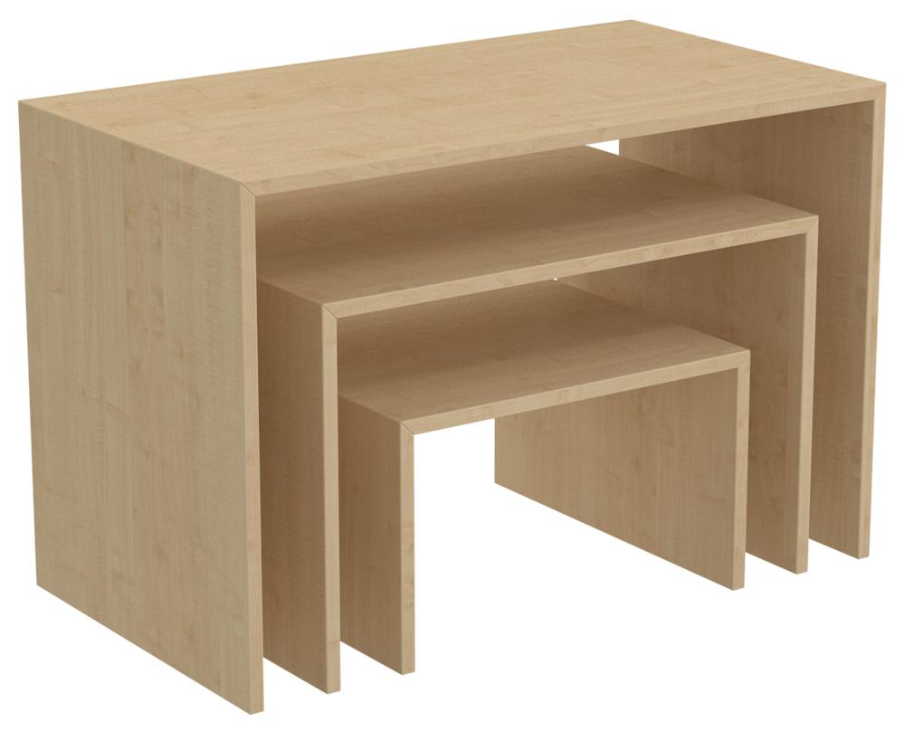 Ladeneinrichtung pr senter tisch ahorn ladenausstattung for Tisch ahorn
