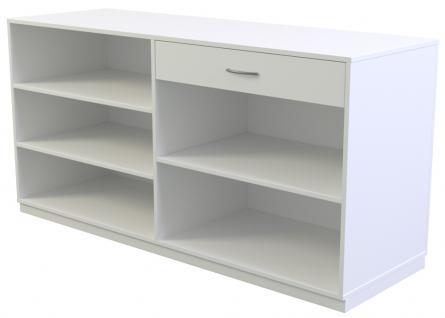 Ladeneinrichtung Verkaufstheke Kassentresen 1800 x 600 x 900 mm Dekor Weiß miniperl