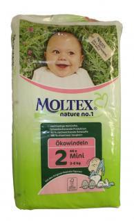 44 St. Gr.2 MINI MOLTEX Nature No1 Ökowindeln Babywindeln Gr 2 = 3-6 kg Windeln - Vorschau