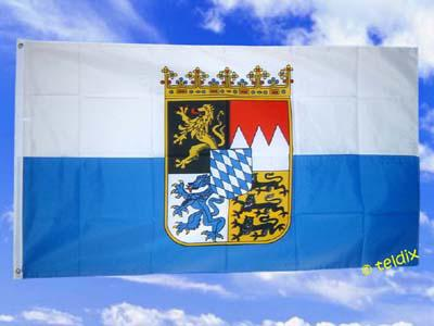 Fahne Flagge BAYERN DIENSTFLAGGE O. RAUTEN 150x90cm