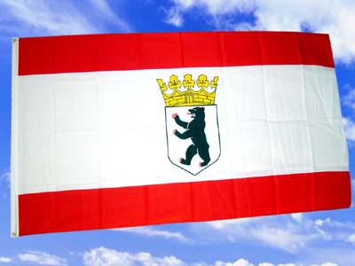 Fahne Flagge BERLIN MIT KRONE 150 x 90 cm