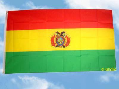 Fahne Flagge BOLIVIEN MIT WAPPEN 150 x 90 cm