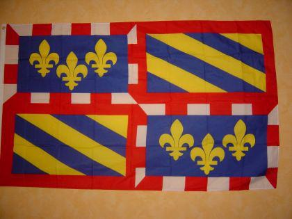 Fahne Flagge BURGUND 150 x 90 cm
