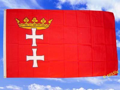Fahne Flagge DANZIG 150 x 90 cm