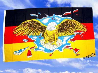 Fahne Flagge DEUTSCHLAND BUNTER ADLER 150x90cm