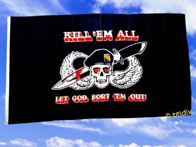 Fahne Flagge KILL` EM ALL 150 x 90 cm